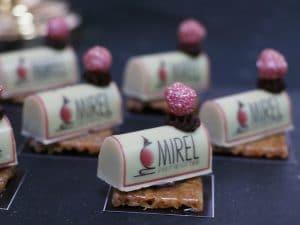 פטיפורים יוקרתיים של מירל שוקולד וקונדטוריית בוטיק MIREL מיתוג על שוקולד